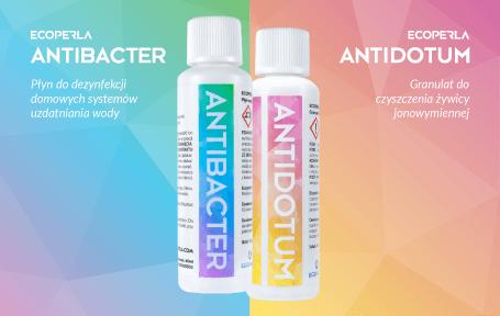 Ecoperla Antidotum i Ecoperla Antibacter - sposoby na pielęgnację filtrów wody